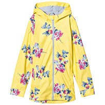 Tom Joule Yellow Floral Print Rubber Raincoat YELLOW MARGATE FLORAL
