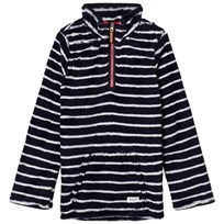 Tom Joule Navy Stripe 1/2 Zip Fleece Navy stripe