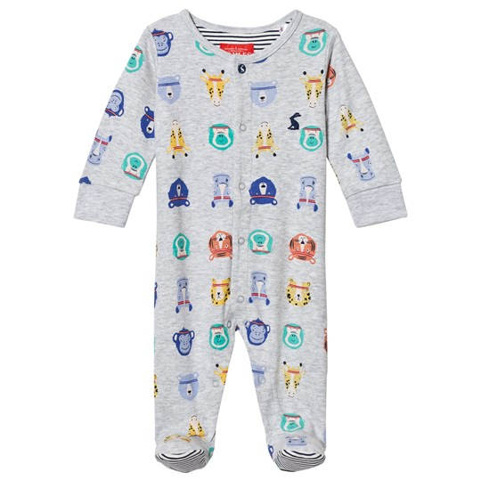 Tom Joule Grey All Over Animal Face Print Babygrow Sports Stars