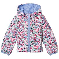 Tom Joule Pink Floral Pack Away Quilted Coat Kitty Ditsy
