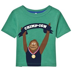 Joules Green Chimp Applique Jersey Tee