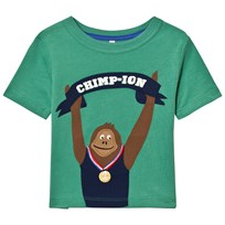 Tom Joule Green Chimp Applique Jersey Tee APPLE GREEN CHIMP-ION