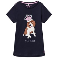 Tom Joule Navy Dog Applique Jersey Tee Navydog