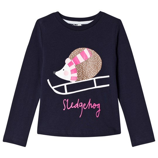 Tom Joule Navy Sleding Hedgehog Print Long Sleeve Tee FRENCH NAVY HEDGEHOG
