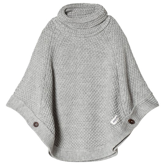 Tom Joule Grey Marl Chunky Kniit Poncho Grey Marl