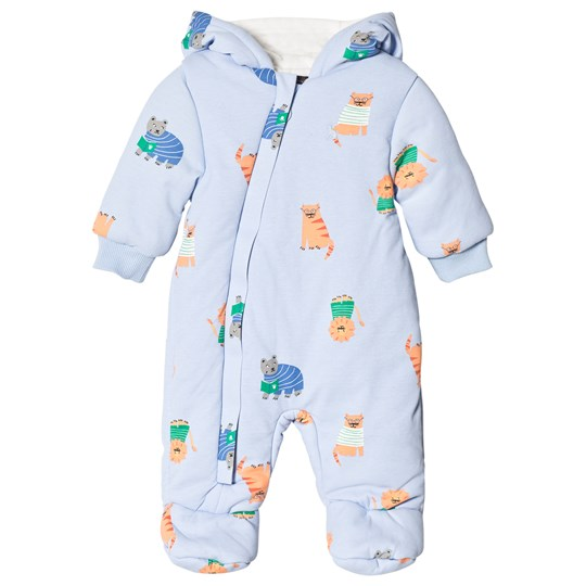 f7201fd77513 Tom Joule - Blue Lion Print Padded Pramsuit with Fleece Lining ...