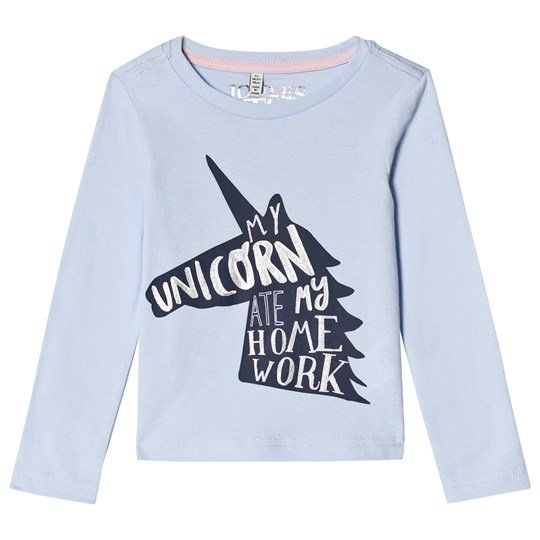Tom Joule Blue Unicorn Print Long Sleeve Tee Sky Blue