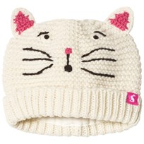 Tom Joule Cream Cat Face Knit Hat Cat