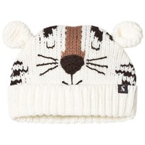 Tom Joule Cream Tiger Face Knit Hat Tiger