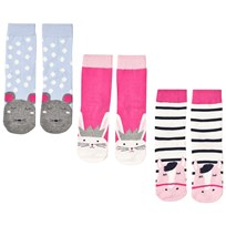 Tom Joule 3 Pack of Horse, Rabbit and Mouse Socks пестрый