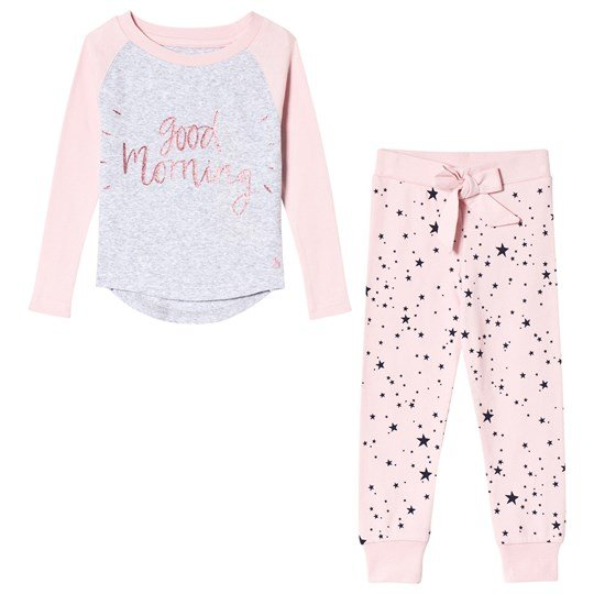 Tom Joule Pink Good Morning and Star Print Pyjamas ROSE PINK STAR
