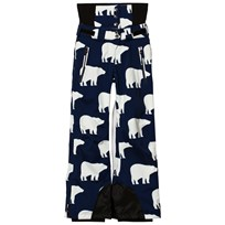Perfect Moment Chamonix Snow Pants Navy With White Bear Print Block Bear