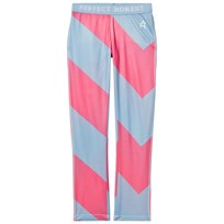 Perfect Moment Blue and Pink Super Thermal Pants Alaska Blue/Peach Pink