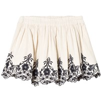 Noa Noa Miniature Embroidered Skirt Off White Silver Lining