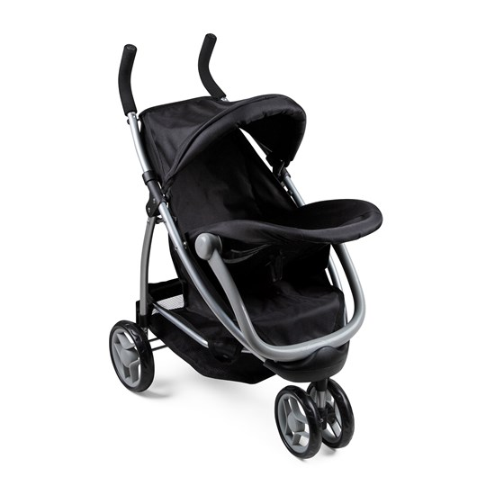 STOY 2-in-1 Doll Stroller and Car Seat Black Black