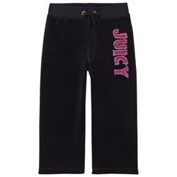 Juicy Couture Navy Glitter Juicy Velour Trackpants