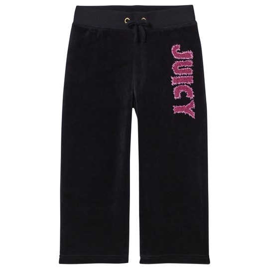 Juicy Couture Glitter Juicy Velour Mjukisbyxor Marinblå 419 Regal