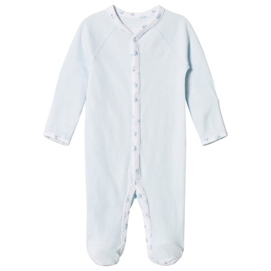 Ralph Lauren Boy Solid Coverall Pearl Blue
