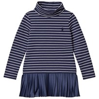 Ralph Lauren Navy and White Stripe with Pleat Skirt Dress 001