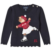 Ralph Lauren Hunter Navy Bear Long Sleeve Sweater 001