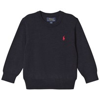 Ralph Lauren Hunter Navy Long Sleeve Crew Neck Merino Sweater 001