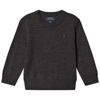 Ralph Lauren Dark Charcoal Long Sleeve Merino Crew Neck Sweater 002