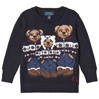 Ralph Lauren Navy Three Bear Knit Jumper 001