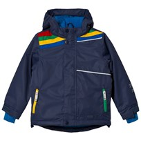 Tootsa MacGinty Navy Rainbow Puddles Ski Jacket True Navy