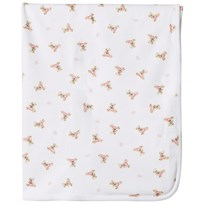 Ralph Lauren White and Pink Bear Print Blanket White/Pink & Multi