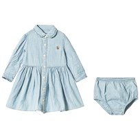 Ralph Lauren Blue Chambray Shirt Dress with PP Chambray
