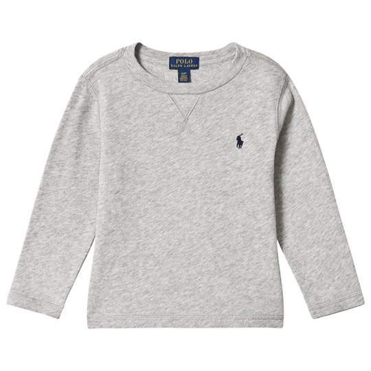 Ralph Lauren Grey Long Sleeve Light Weight Sweatshirt LIGHT GREY HEATHER