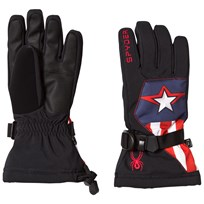 Spyder Captain America Marvel Overweb Ski Gloves 001 BLACK/CAPTAIN