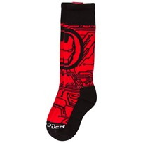 Spyder Iron Man Marvel Bug Out Socks 600 RED/ IRON MAN
