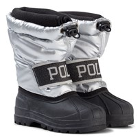 Ralph Lauren Jakson Winter boots in Silver Nylon w Black Silver