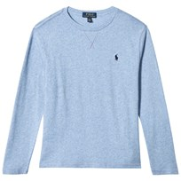 Ralph Lauren Blue Long Sleeve Light Weight Sweathirt Jamaica Blue Heather