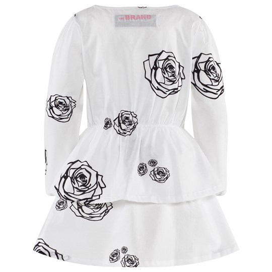 The BRAND Boat Dress White Roses White Roses