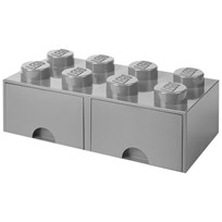 LEGO Inredning LEGO BRICK DRAWER (8 KNOBS) stone grey