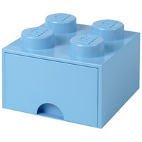 LEGO Inredning LEGO BRICK DRAWER (4 KNOBS) Light Blue