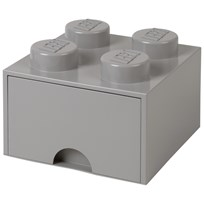 LEGO Inredning LEGO BRICK DRAWER (4 KNOBS) stone grey