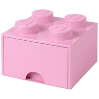 LEGO Inredning LEGO BRICK DRAWER (4 KNOBS) Light purple