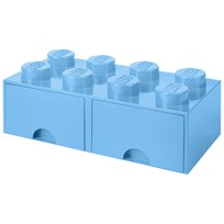 LEGO Inredning LEGO BRICK DRAWER (8 KNOBS) Light Blue