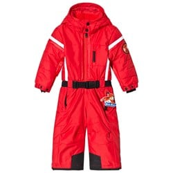 Poivre Blanc Red Snowsuit with Embroidered Back