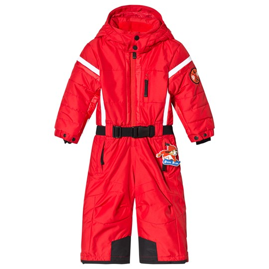 Poivre Blanc Red Snowsuit with Embroidered Back 0038