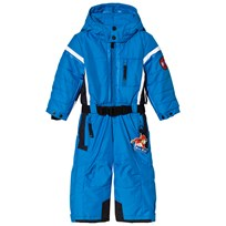 Poivre Blanc Blue Snowsuit with Embroidered Back 0051