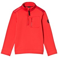 Poivre Blanc Red Stretch Fleece 1/4 Zip Mid Layer 0038