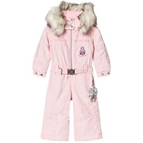 Poivre Blanc Pale Pink Snowsuit with Embroidered Details 0032