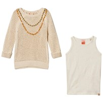 Scotch R'belle Cream Pullover with Tank Top Off white