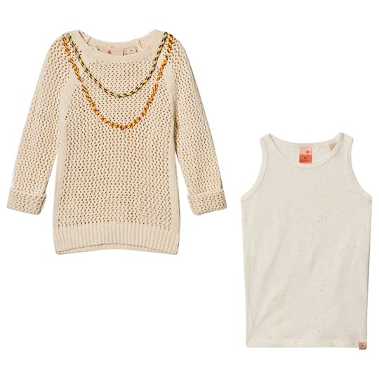 Scotch R'belle Cream Pullover with Tank Top 白色