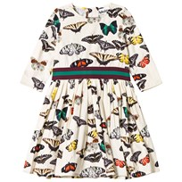 Molo Christin Dress Butterflies Stripe Butterfliesayed stripe