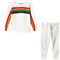 Molo Lov Pyjamas Set White Star White Star